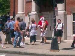 santa handing out money