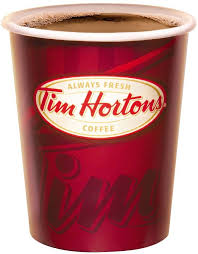 Tim Hortons coffee cup