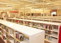 Library Shelves at McAllen Public Library via www.mcallenlibrary.net